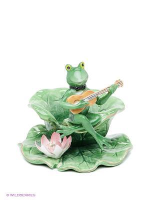 Подсвечник Лягушка Pavone. Цвет: зеленый