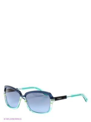 Очки солнцезащитные Vogue. Цвет: синий, зеленый