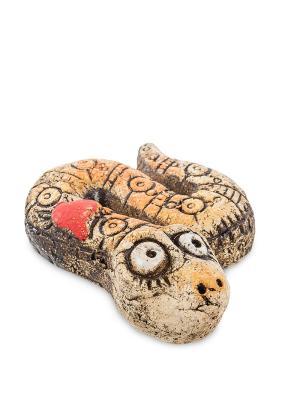 Фигурка Змея шамот Art East. Цвет: коричневый