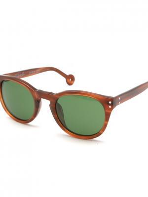 Солнцезащитные очки HALLY & SON. Цвет: желтый, коричневый