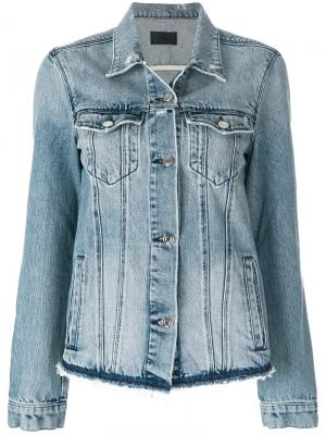 Джинсовая куртка с бахромой Rta. Цвет: синий