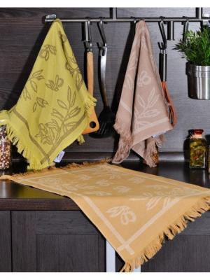 Набор кухонных полотенец СПЕЦИИ  (2х3шт.) 40х60 TOALLA. Цвет: горчичный