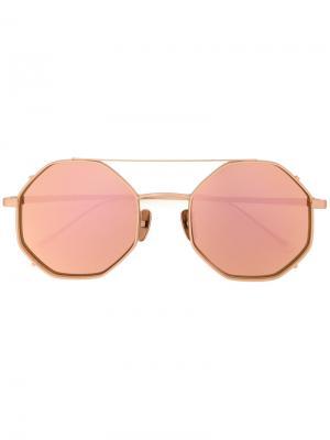 Солнцезащитные очки в стиле оверсайз Maska. Цвет: коричневый