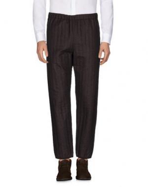 Повседневные брюки UMIT BENAN. Цвет: темно-коричневый