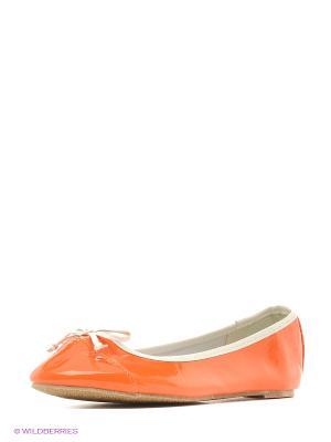 Балетки Oodji. Цвет: оранжевый