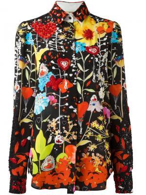 Рубашка с цветочным рисунком и вышивкой блестками Piccione.Piccione. Цвет: многоцветный
