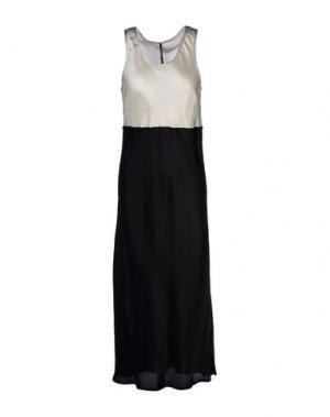 Платье длиной 3/4 LIVIANA CONTI. Цвет: черный