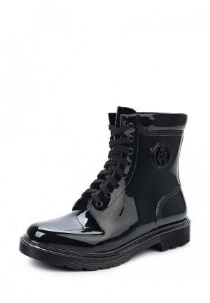 Резиновые ботинки Armani Jeans. Цвет: черный