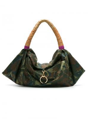 Camouflage tote bag Xaa. Цвет: зелёный