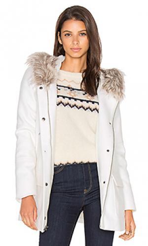 Куртка из искусственного меха standford cupcakes and cashmere. Цвет: белый