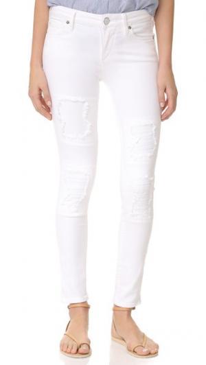 Укороченные джинсы-суперскинни Halle True Religion. Цвет: нашивка из той же ткани кремового цвета
