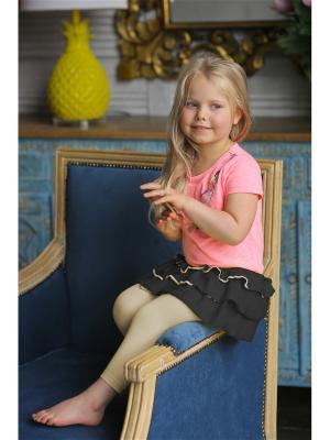 Леггинсы с юбкой Yuumi. Цвет: черный, бежевый