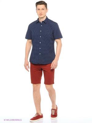 Рубашка мужская с коротким рукавом Mr. Marten. Цвет: темно-синий