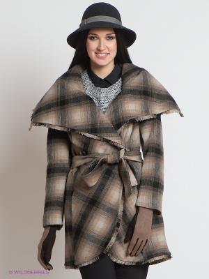 Пальто La Reine Blanche. Цвет: бежевый, черный