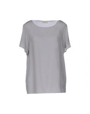 Блузка BRUNO MANETTI. Цвет: светло-серый