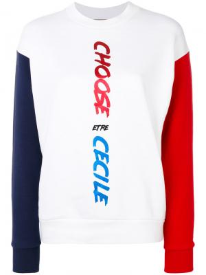 Colour block sweatshirt Être Cécile. Цвет: белый