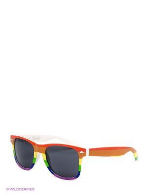 Солнцезащитные очки TRUESPIN Rainbow True Spin. Цвет: красный