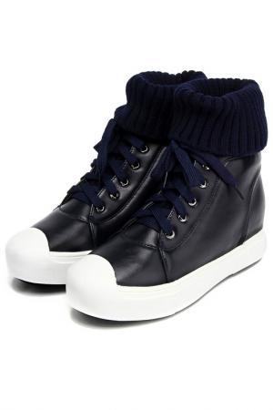 Ботинки Araz. Цвет: синий, кожа