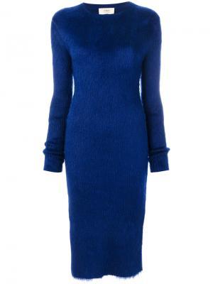Платье с разрезами Ports 1961. Цвет: синий