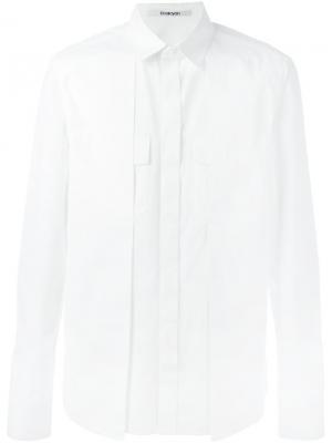 Рубашка со складками Chalayan. Цвет: белый