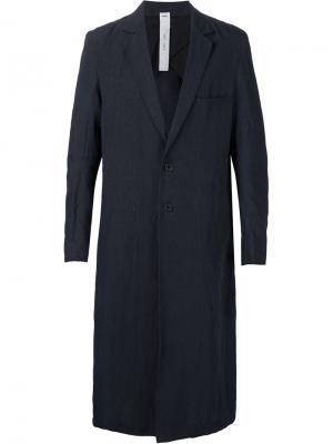 Однобортное пальто Damir Doma. Цвет: синий