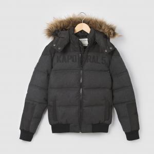 Пальто с капюшоном, 10 - 16 лет. KAPORAL 5. Цвет: черный/серый