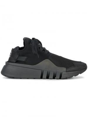Кроссовки на шнуровке Ayero Y-3. Цвет: чёрный