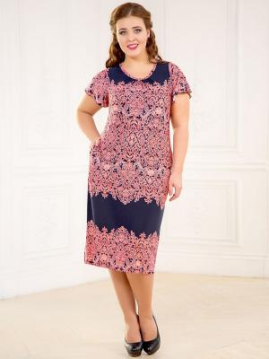 Платье CLEO. Цвет: коралловый