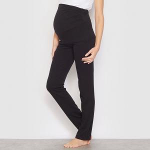 Брюки пижамные для беременных COCOON. Цвет: серый меланж,черный