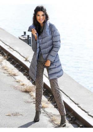 Стеганое пальто RICK CARDONA by Heine. Цвет: серебристо-серый, серо-коричневый, цвет голубого льда