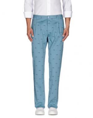 Повседневные брюки OFFICINA 36. Цвет: бирюзовый