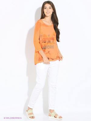 Лонгслив Funky Staff. Цвет: оранжевый