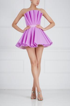 Однотонное платье-бюстье Ester Abner. Цвет: лиловый
