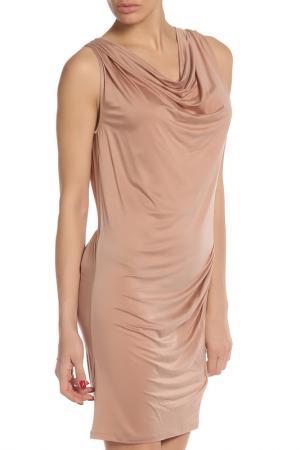 Облегающее нюдовое платье Liu Jo. Цвет: бежевый
