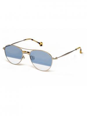 Солнцезащитные очки HS 611S 03 HALLY & SON. Цвет: серебристый