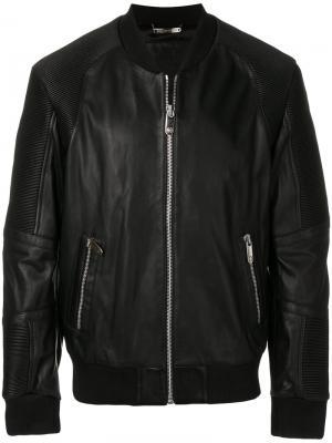 Куртка-бомбер Dali Philipp Plein. Цвет: чёрный