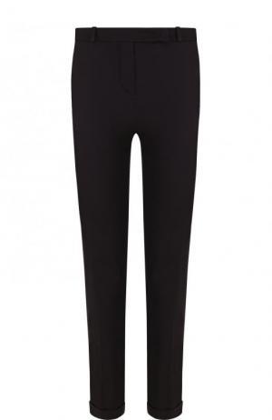Укороченные однотонные брюки из хлопка Loro Piana. Цвет: темно-серый