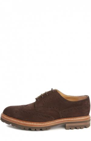Туфли Kiton. Цвет: коричневый