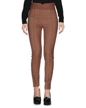 Повседневные брюки TRUE ROYAL. Цвет: кирпично-красный