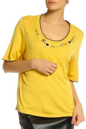 Блуза Elisa Fanti. Цвет: желтый