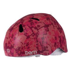 Шлем для сноуборда детский  Nina Satin Pink Camo White Fleece Bern. Цвет: розовый,фиолетовый,камуфляжный