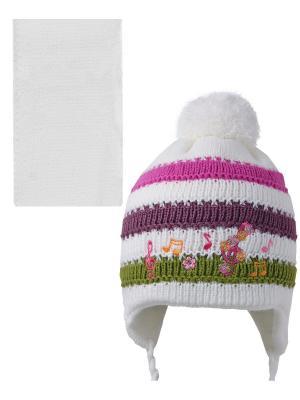 Шапка; шарф Acer. Цвет: белый, зеленый, малиновый, фиолетовый