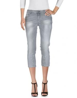 Джинсовые брюки-капри YOSHII. Цвет: серый