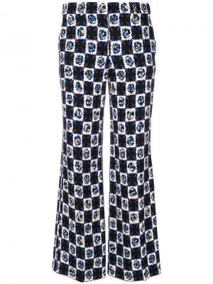Укороченные расклешенные брюки с принтом Emilio Pucci. Цвет: многоцветный