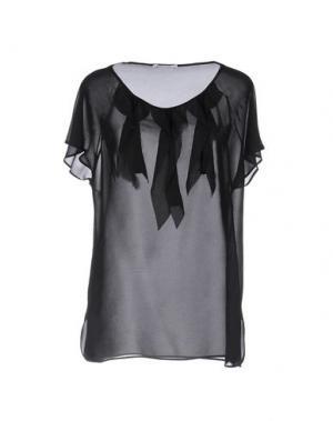 Блузка BIANCOGHIACCIO. Цвет: черный