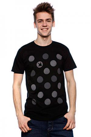 Футболка  New Polka Dots Black Dekline. Цвет: черный