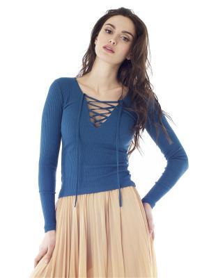 Пуловер на шнуровке Celine FreeSpirit. Цвет: бирюзовый