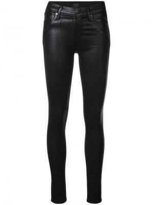 Вощеные джинсы кроя скинни Citizens Of Humanity. Цвет: чёрный