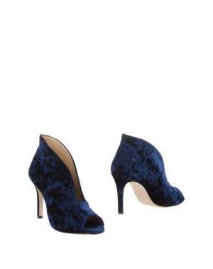 Полусапоги и высокие ботинки L'ARIANNA. Цвет: темно-синий