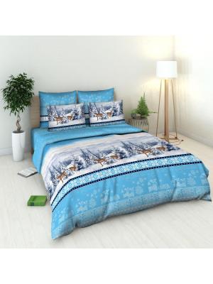Комплект постельного белья Василиса. Цвет: голубой